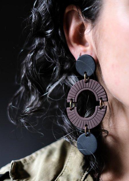 Her New Tribe Ceramic Earrings