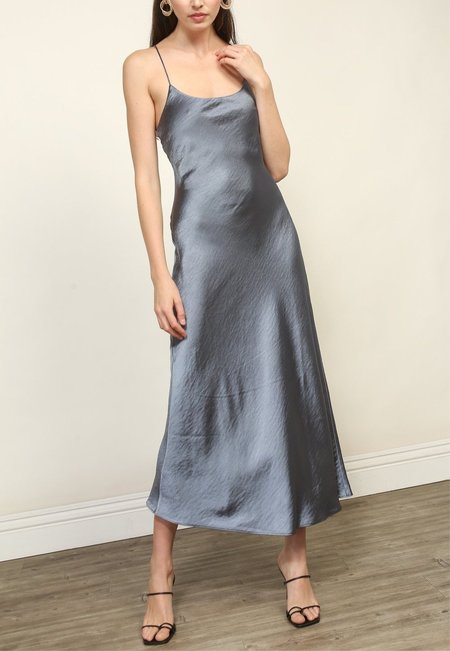 Line & Dot Makena Midi Dress - Slate Blue