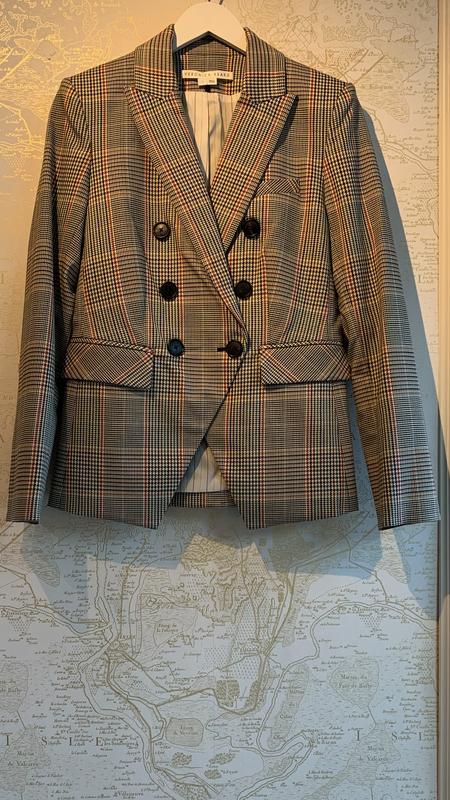 Veronica Beard Miller Plaid Dickey Jacket - Print