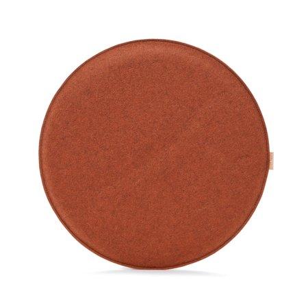 Graf Lantz Zabuton Round Felt Seat Pad - Mahogany/Natural