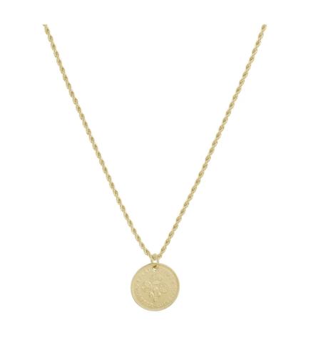 Electric Picks Clover Coin Necklace - 14kt Gold Filled