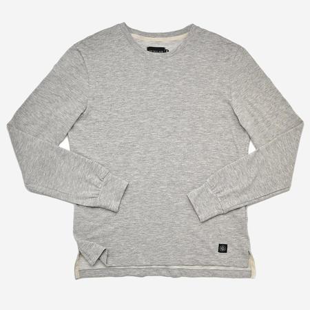 Outclass Slub Long Sleeve T-Shirt - Heather Grey