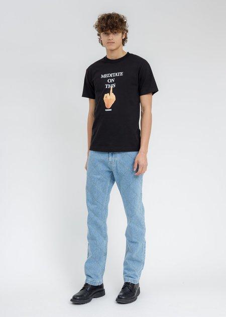 PLEASURES Message T-Shirt - BLACK