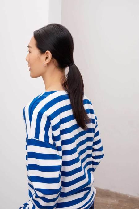Kowtow Breton Sweater - blue stripe