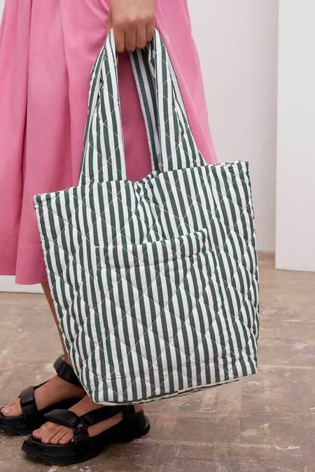 Kowtow Quilt Bag - green/white stripe