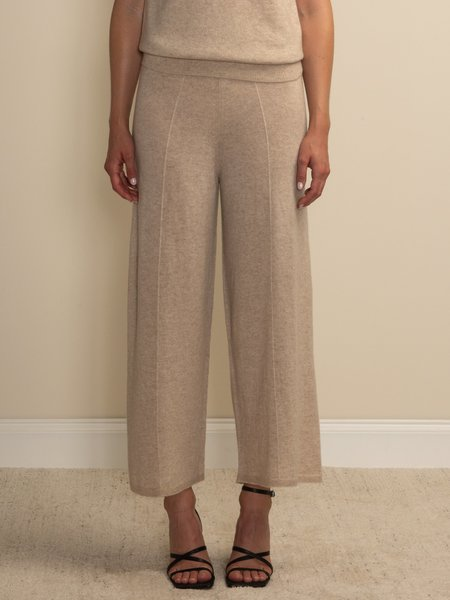 PURECASHMERE NYC Loose Fit Pants - Oatmeal