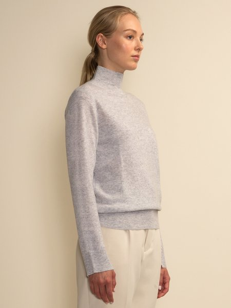 PURECASHMERE NYC Simple High Neck Sweater - Grey