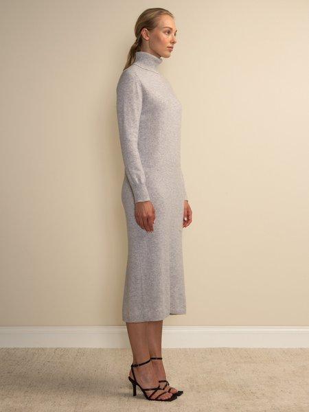 PURECASHMERE NYC Turtleneck Maxi Dress - Grey