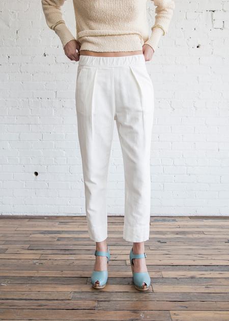 Raquel Allegra Easy Pant Bright White