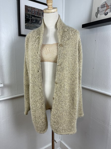 [PRE-LOVED] Isda & Co. Boucle Cardigan -mustard