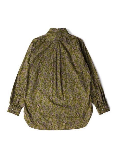 Engineered Garments Cotton 19 Century Shirt - Olive/Purple Paisley Print