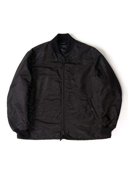 Engineered Garments Flight Satin Nylon Aviator Jacket - Black
