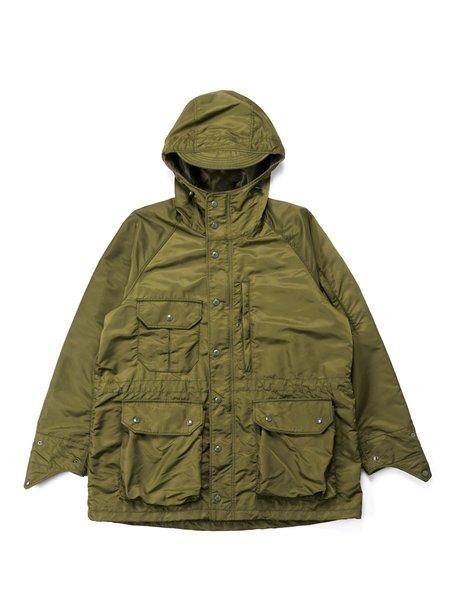 Engineered Garments Flight Satin Nylon Field Parka - Olive