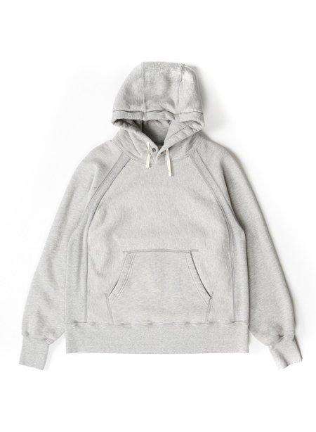 Engineered Garments CP Heavy Fleece Raglan Hoody - Heather Grey