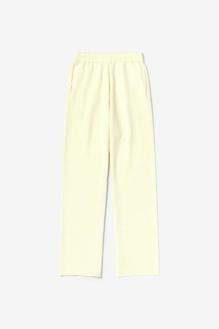 Auralee Super High Gauge Smooth Knit Pants - Ivory