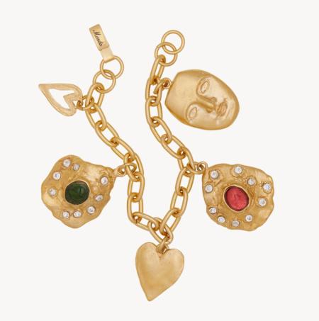 Mondo Mondo Oyster Charm Bracelet - Gold