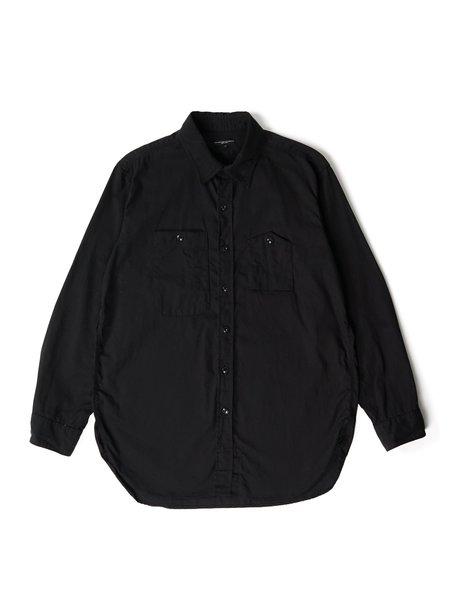 Engineered Garments Cotton Micro Sanded Twill Work Shirt - Black