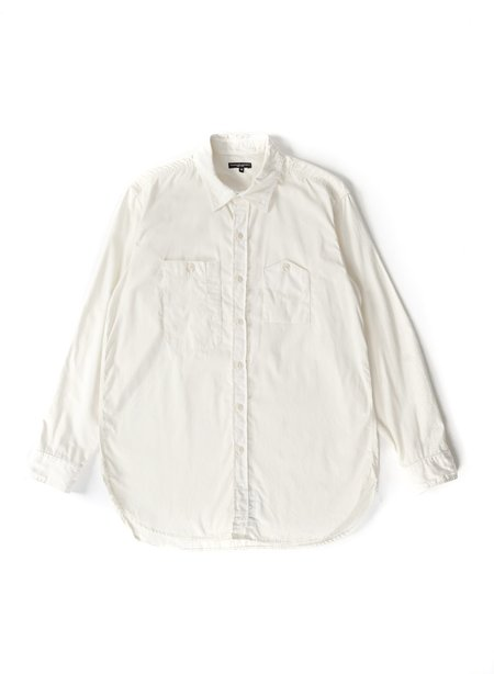 Engineered Garments Cotton Micro Sanded Twill Work Shirt - Ivory