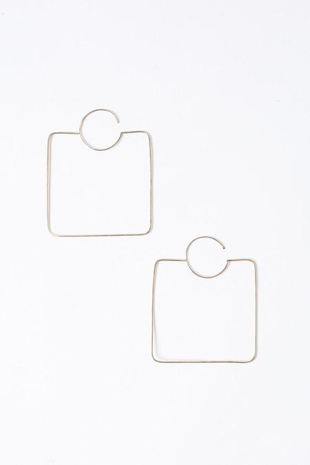 S Tector Metals Large square hoop earrings