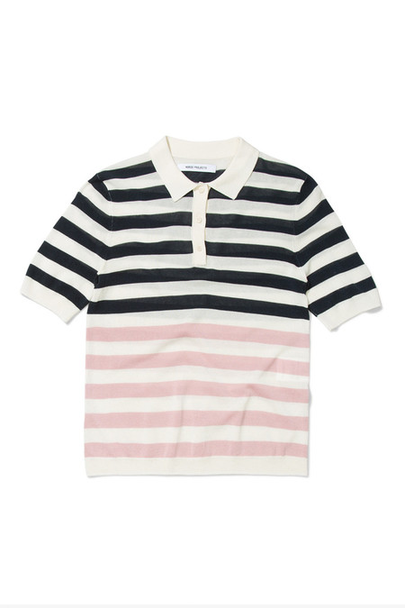 Norse Projects Majken Stripe Polo | Navy