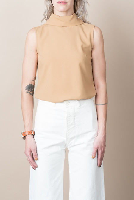 Jesse Kamm Stack Top In Camel