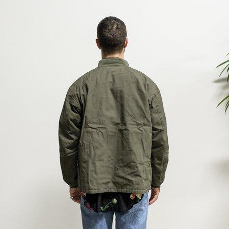 Engineered Garments Aviator Jacket - Olive Heavyweight Cotton Ripstop