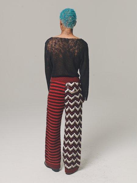 Marni Chunky Knit Patchwork Drawstring Trouser