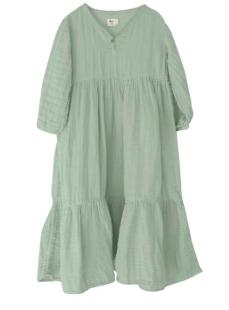 Kids Nico Nico Athena Gauze Dress - Thyme
