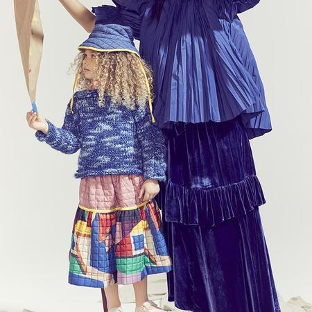 Kids Tia Cibani Tufted Rani Skirt - Licorice Mix Multicolour