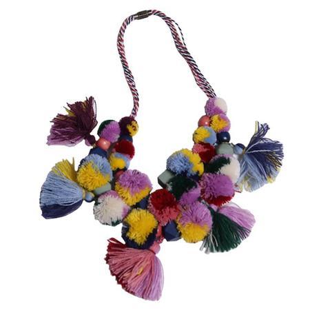 Kids Tia Cibani Harriet Pompom Necklace - Multicolour
