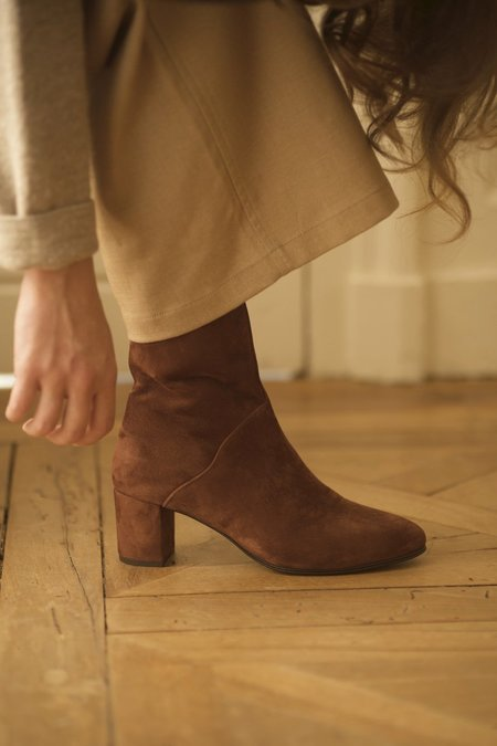 Anne Thomas Mimo Boots Velours Henna