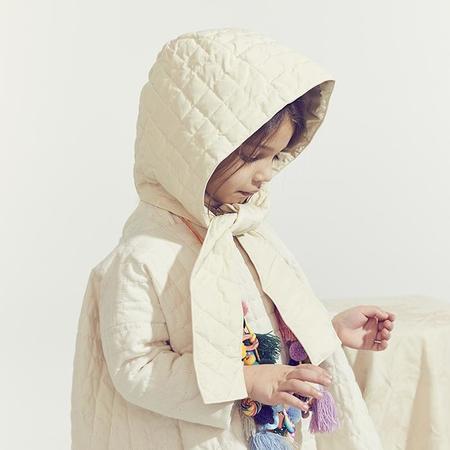 Kids Tia Cibani Kids Woman Down Bonnet - Opal Cream
