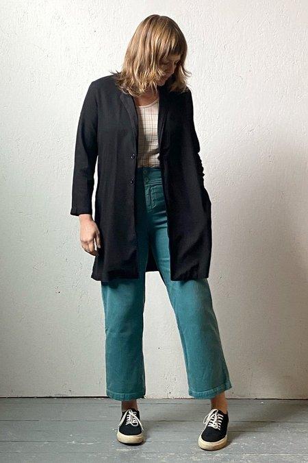 Recycled Tencel Long Jacket - Black