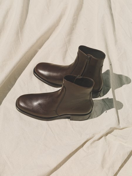 Lemaire Soft Vegetable Tanned Calf Leather Classic Boots -  Brown