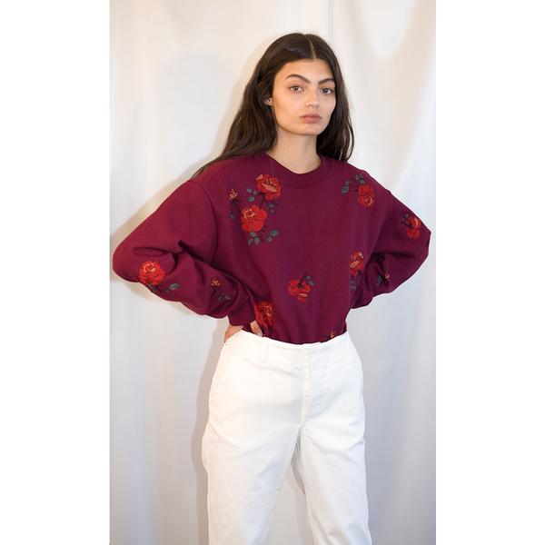 Pari Desai Rose Embroidered Sweatshirt
