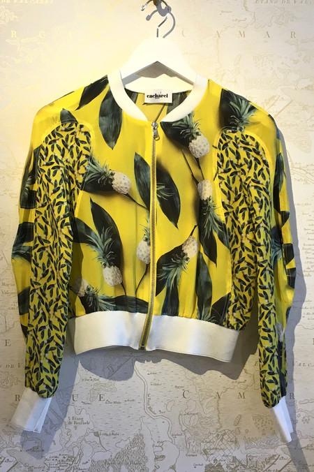 Cacharel Pineapple Print Shrunken Bomber