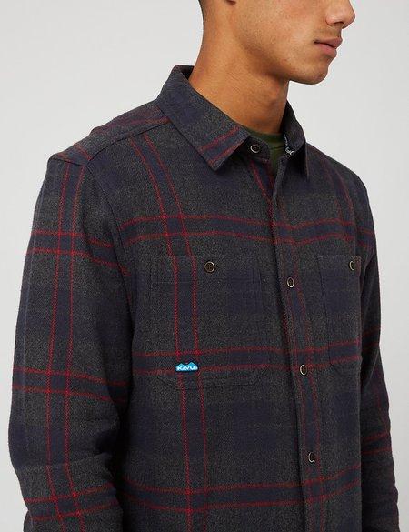 Kavu Big Joe Shirt (Flannel Check) - Heritage Vibes Grey