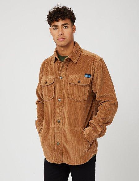 Kavu Petos Corduroy Overshirt - Pebble Brown