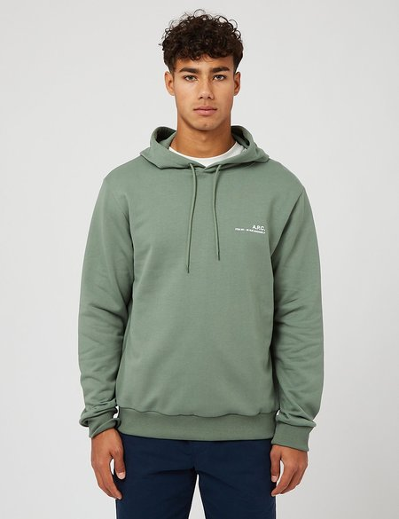 A.P.C. Item Hooded Sweatshirt - Green
