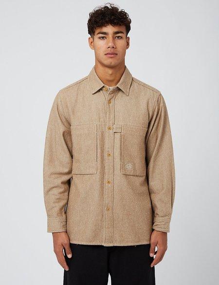 Snow Peak Camping Flannel Utility Shirt - Brown