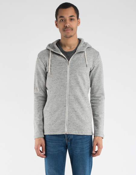 Minimum Floke Hoodie Light Grey Melange