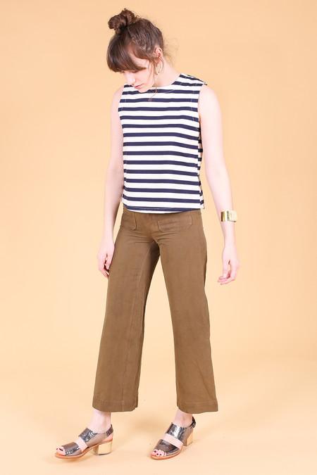 SBJ Austin Kaya top in navy/cream stripe