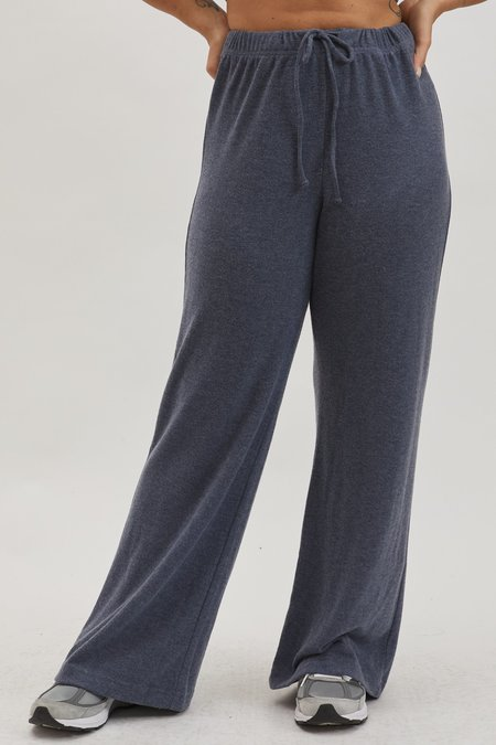 Donni. Sweater Wide Leg Pant - Navy