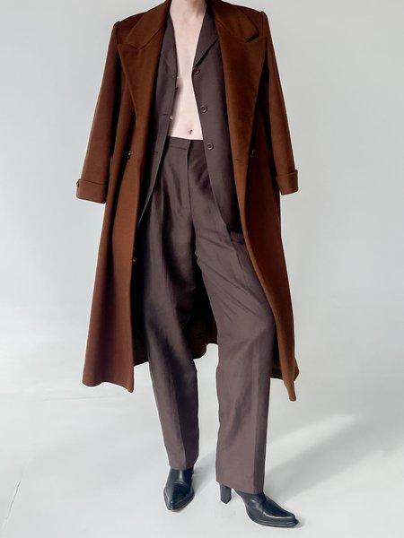 Vintage Linen Pant Suit - Cocoa