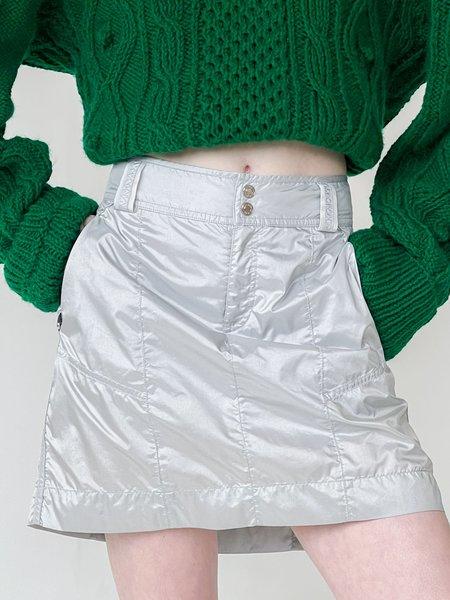 Vintage Metallic Skirt - Silver
