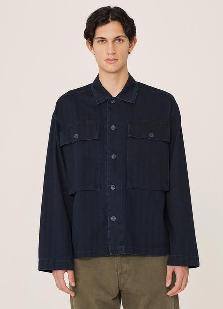 YMC Military Cotton Herringbone Twill Shirt - Indigo