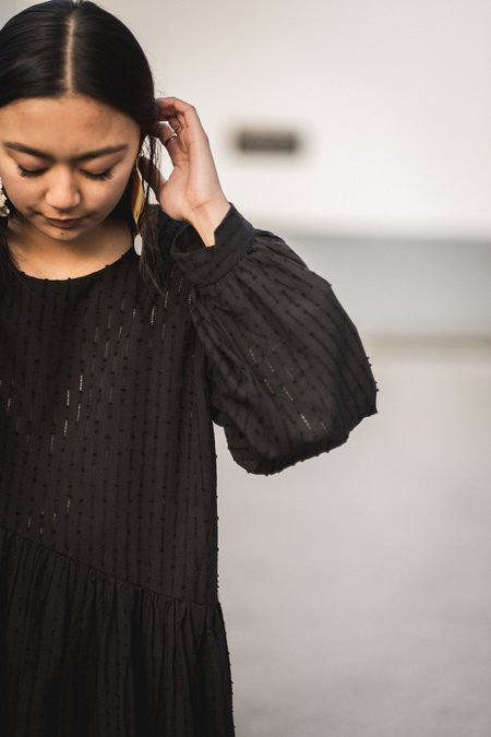ET TIGRE Jayme Doublet Dress - Black