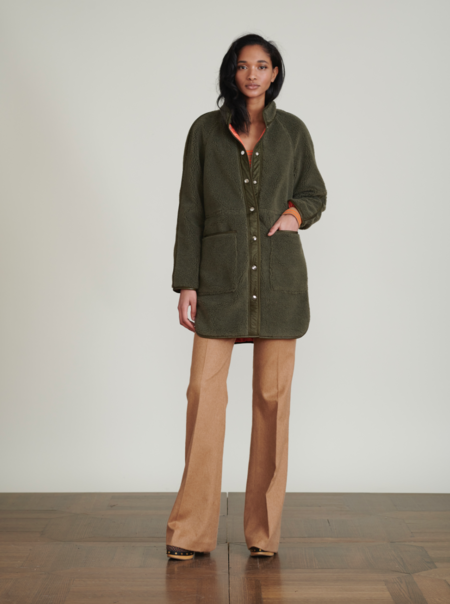 Sullie Sherpa Jacket - Army Green