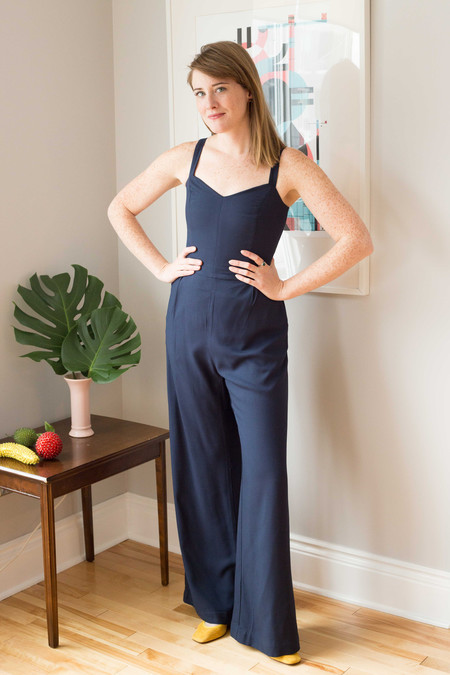 Birds of North America Sparrow Jumpsuit - Navy