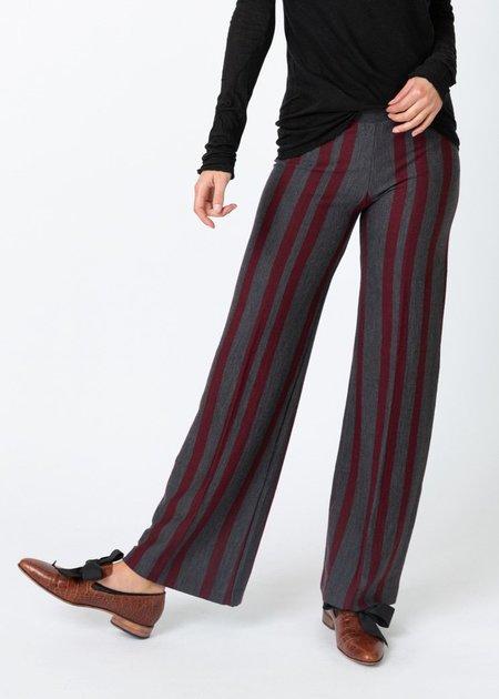 Siyu Striped Knit Pant - merlot